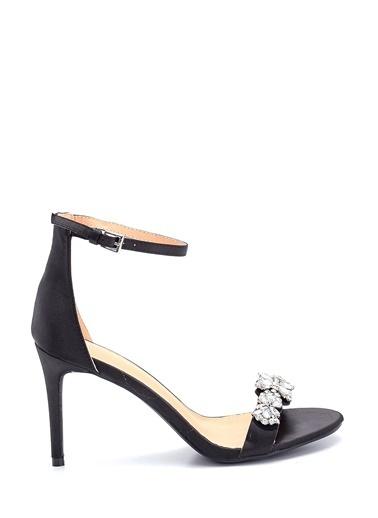 Derimod Kadın Topuklu Taş Detaylı Sandalet Siyah